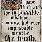 Classic Sherlock Calligraphy by siroctopus