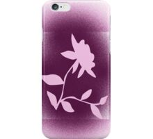 Flower silhouette in pink iPhone Case/Skin