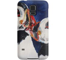 Puffin Wild Birds Fine Art Contemporary Acrylic Painting On Paper Samsung Galaxy Case/Skin