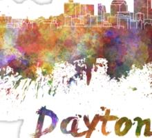Dayton skyline in watercolor Sticker