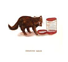 Cattism 25: Conserve Water by Whitney Mattila