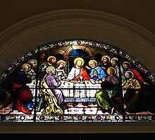 Stained Glass Last Supper by WildestArt