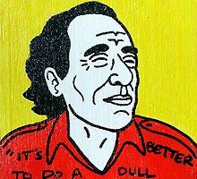 Charles Bukowski Folk Art by krusefolkart