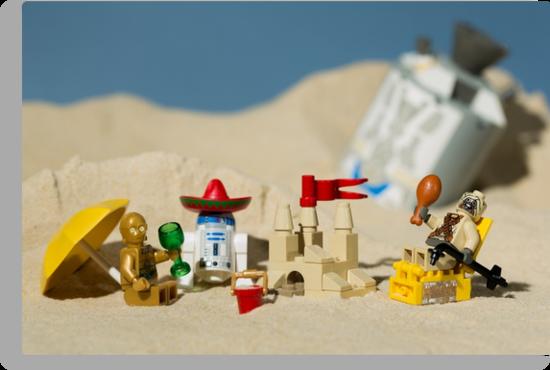 Lego Tatooine picnic by Kevin  Poulton - aka 'Sad Old Biker'