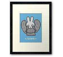 Don't Blink Miffy Framed Print