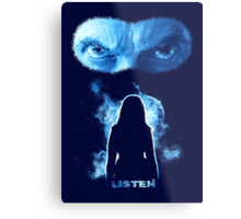 Listen - Twelfth Doctor - Blue Metal Print