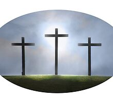 Three Crosses of Easter by LindaCooke