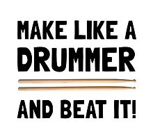 Drummer Beat It by AmazingMart