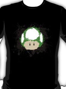 Abstract Paint Splatter 1up Mushroom T-Shirt