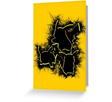 Electrifying Pikachu Greeting Card