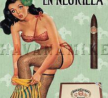 Cuban Cigar Pinup Girl - Hermoso y en Negrilla by havanamike