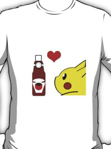 Pikachu and his Ketchup <3 T-Shirt