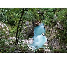 The Power of Isonzo River Photographic Print