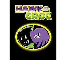 Hawk & Croc Lock-On shirt Photographic Print