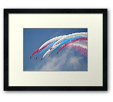 Looping Through Cloud - The Red Arrows - Farnborough 2014 Framed Print