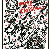 gingerbread house Christmas card by huiyuanchang