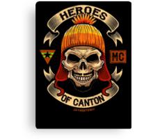 Heroes of Canton Bike Club Canvas Print