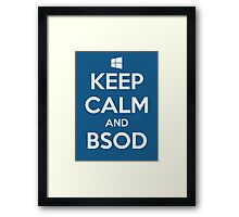 Keep calm and BSOD Framed Print