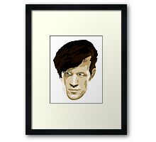 Doctor Who #11 Matt Smith Framed Print