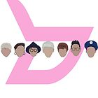 block b logo heads by kpoplace
