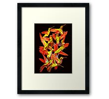 Hummingbird Dance in Sharpie (FireBird Edition) Framed Print