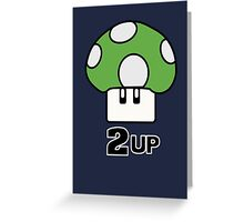 2 Up mushroom Greeting Card