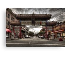 China town Victoria Canvas Print