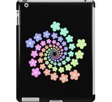 Groovy Flower Spiral - Retro 60s - Vintage 1960s - Rainbow iPad Case/Skin
