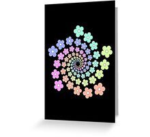 Groovy Flower Spiral - Retro 60s - Vintage 1960s - Rainbow Greeting Card