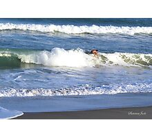 Surfer ~ With Too Much Surf! Photographic Print