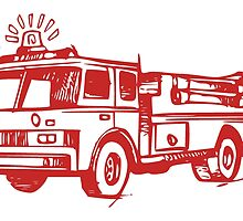 Red Fire Truck by kwg2200