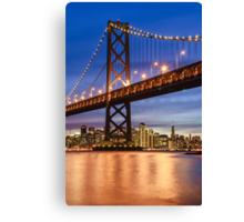 The Golden Gate At Night Canvas Print