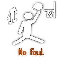 No Foul - basketball Photographic Print