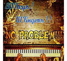 88 Keys 10 Fingers Photographic Print
