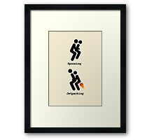 Spooning and Jetpacking Framed Print