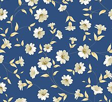 Flower samless pattern. by Kotkoa