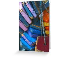 Colorful Floating Cork Greeting Card