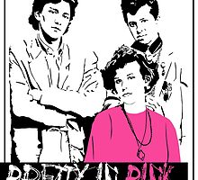 Pretty in Pink Vintage Movie Poster by FinlayMcNevin