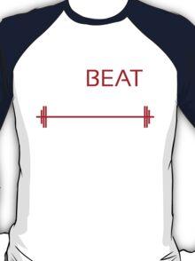 Training to beat Goku - Yamcha - White Letters T-Shirt