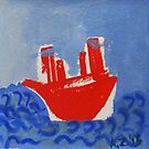red boat by AgnesZirini