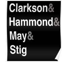 Clarkson & Hammond & May & Stig Poster