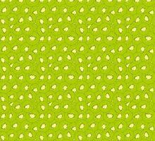 kiwi fruit green pattern by Hipatia
