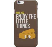 Zombie Survival Guide - Rule #32 - Enjoy the Little Things iPhone Case/Skin