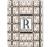 1920s Pink Champagne Gatsby Monogram letter R iPad Case/Skin