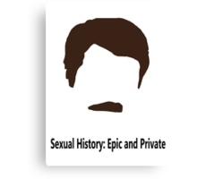 Ron Swanson - Sexual History: Epic and Private Canvas Print