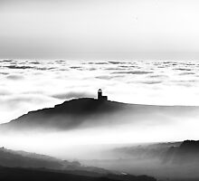 Belle Tout in the Mist by Tom Benneyworth