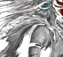 Mononoke Wolf Anime Tra Digital Painting Sticker
