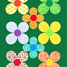 EIGHT CUT SHEET FLOWERS by RainbowArt