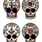 Sugar Skull Set by Amy-Elyse Neer