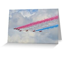 God Save Our Queen-   Red Arrows. Greeting Card